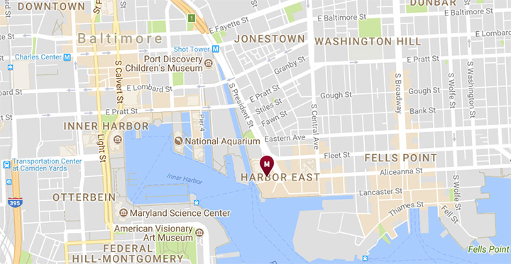 Google Maps - Baltimore Marriott Waterfront Hotel