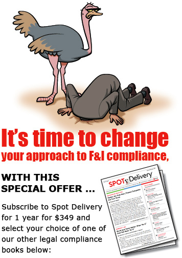 Spot Delivery Special Offer