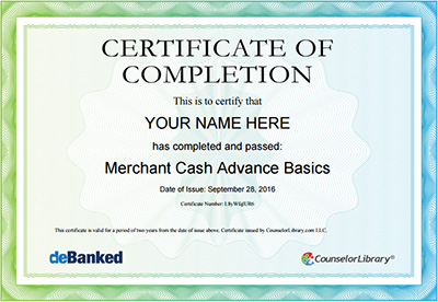 consumer credit compliance training and certification